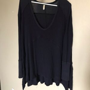 Free people oversized vneck thermal size medium